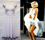 New Rosa Rosa 1950s Vtg Iconic White  Marilyn Halter Party Salsa Prom  dress